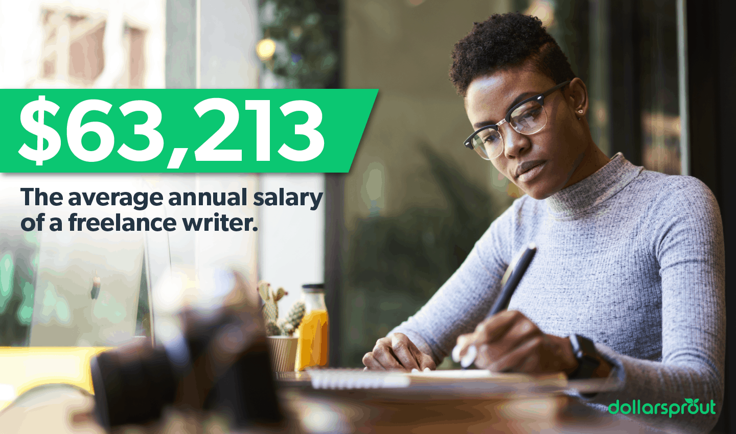 The average annual salary of a freelance writer
