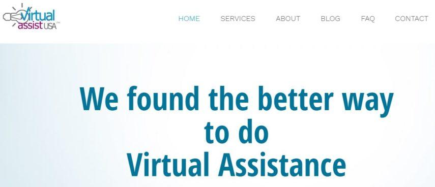 Virtual Assistant USA homepage
