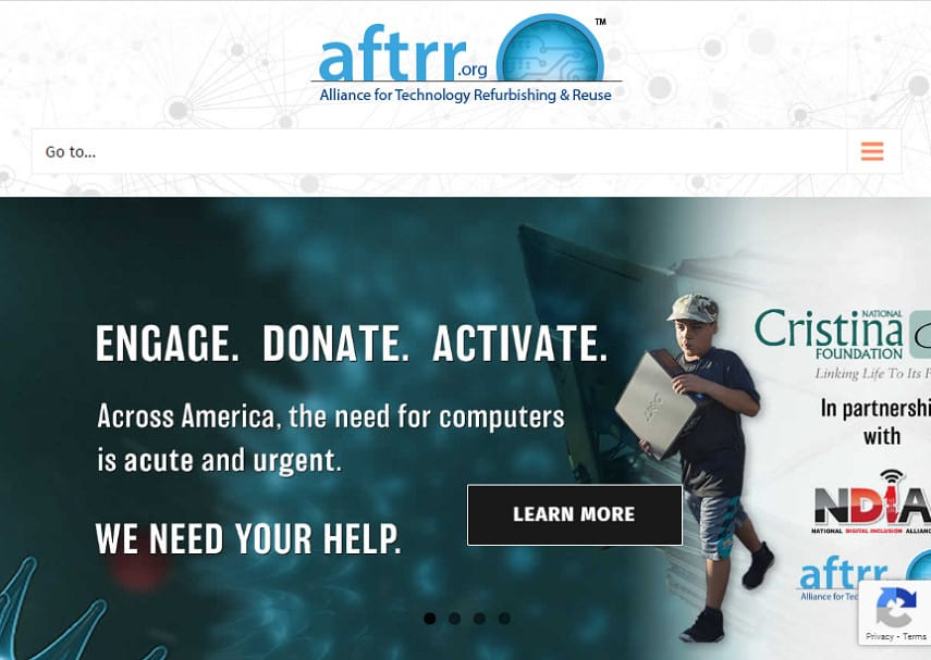 Alliance for Technology Refurbishing and Reuse homepage
