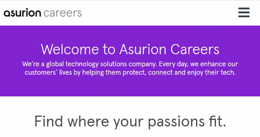 Asurion careers page