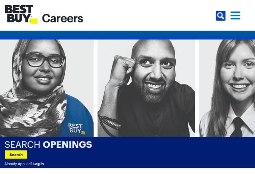 Best Buy careers page