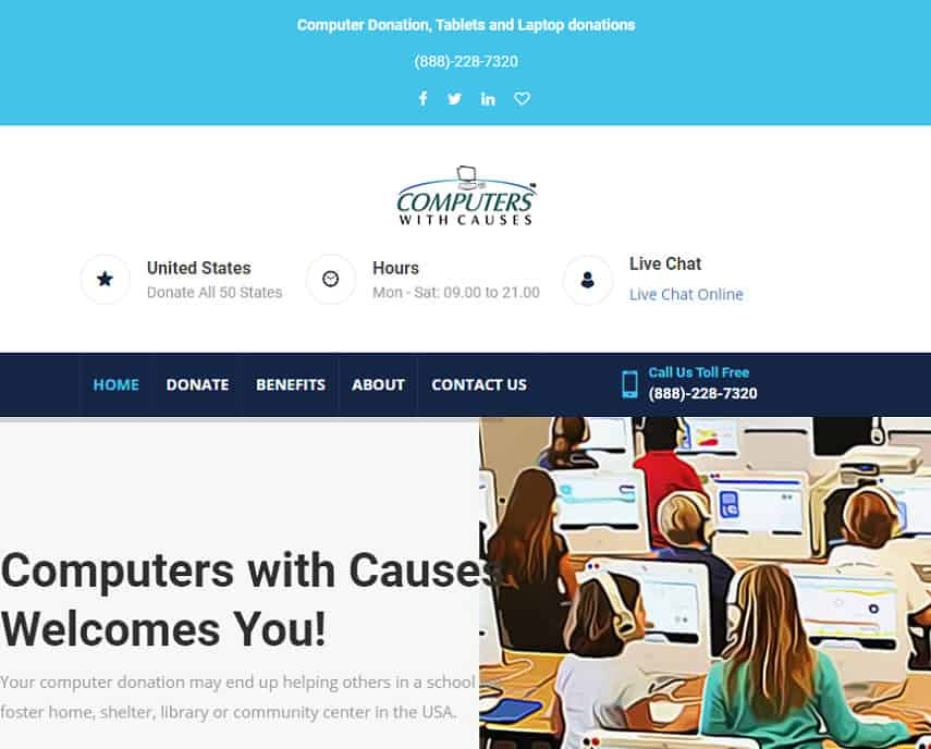 Computers with Causes homepage