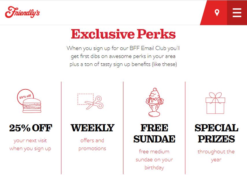 Friendly's rewards program