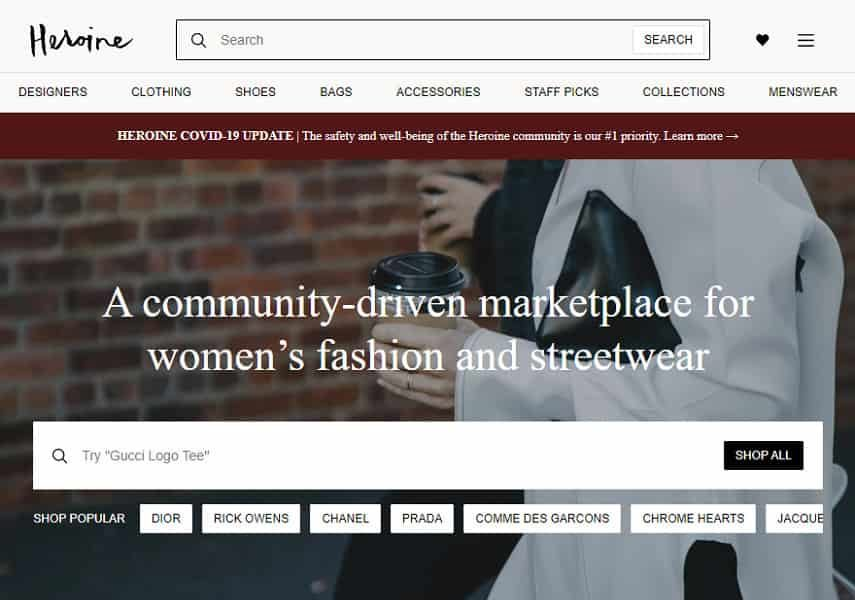 Heroine homepage