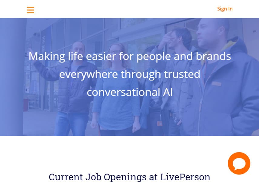 LivePerson careers page