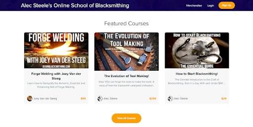 Online course screenshot
