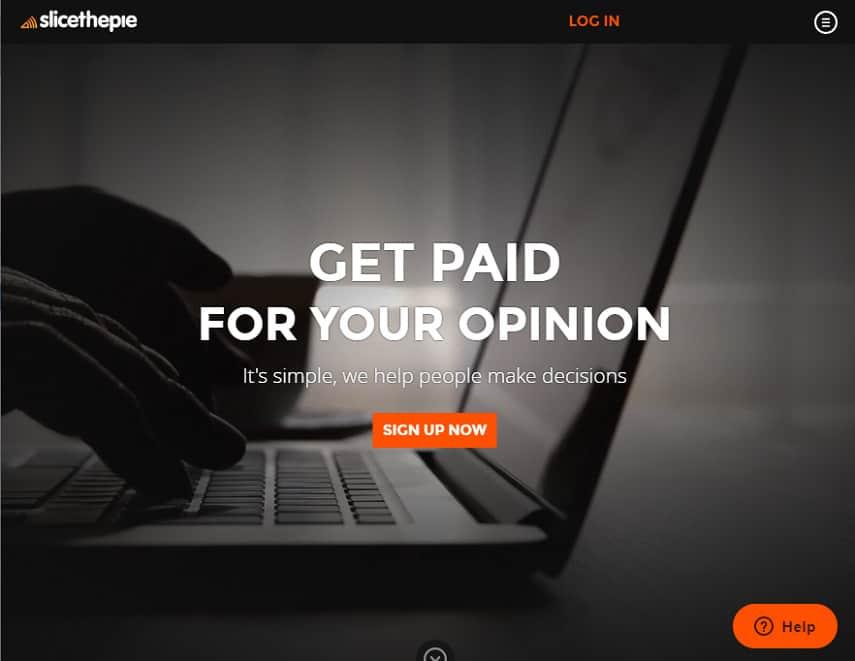 SlicethePie homepage
