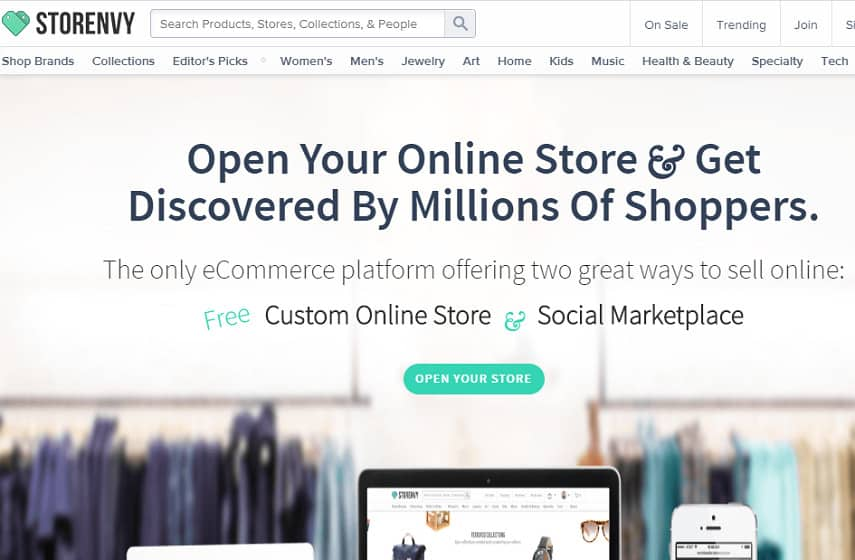 Storenvy open store page