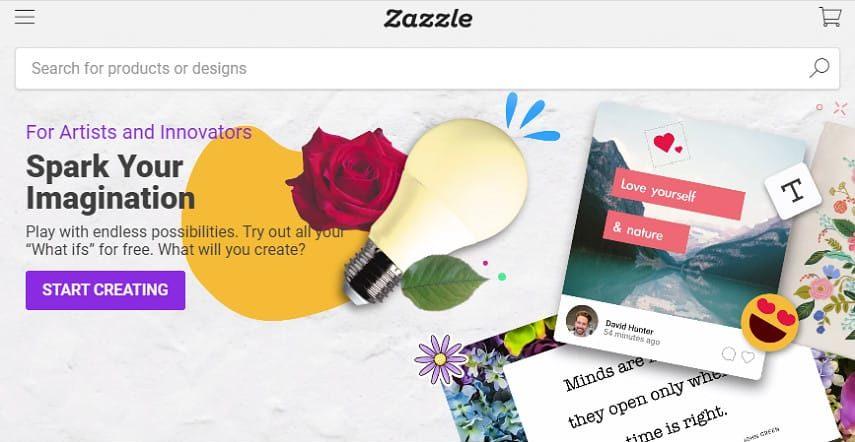 Zazzle create page