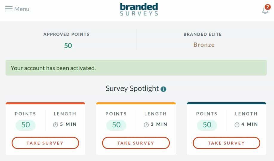 Branded Surveys easy points