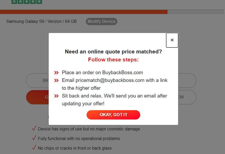 BuyBackBoss price lock page