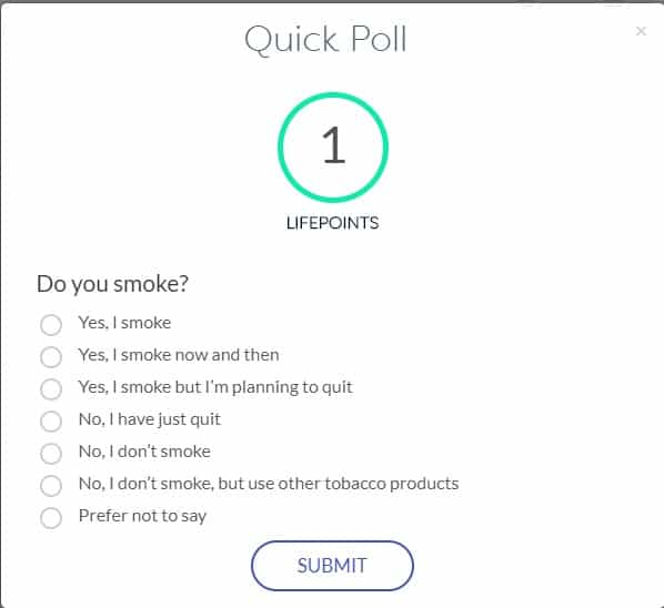LifePoints Poll