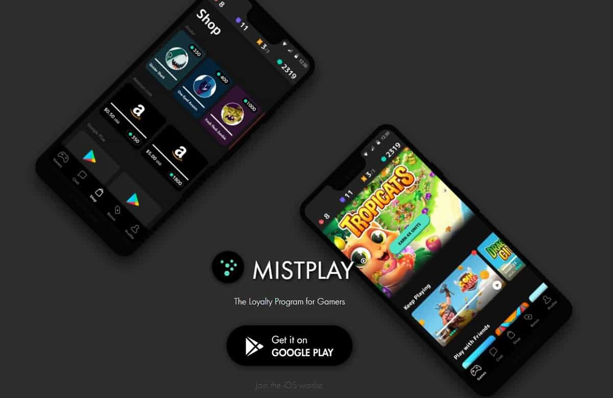Mistplay home screen