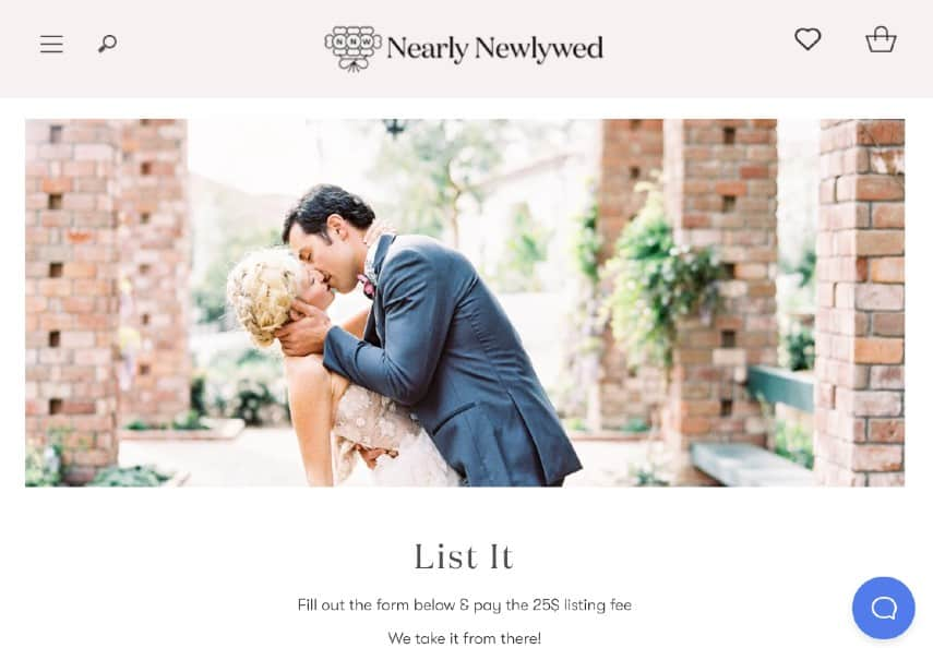 Nearly Newlywed homepage