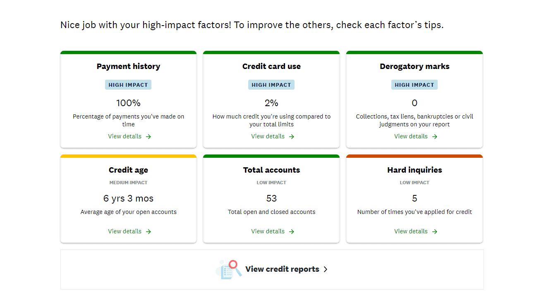 CreditKarma credit score factors
