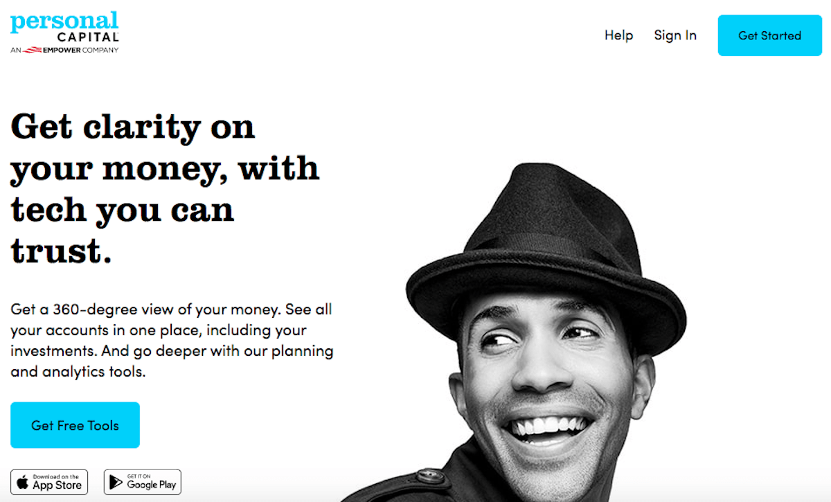 Personal Capital Financial Tools Screenshot