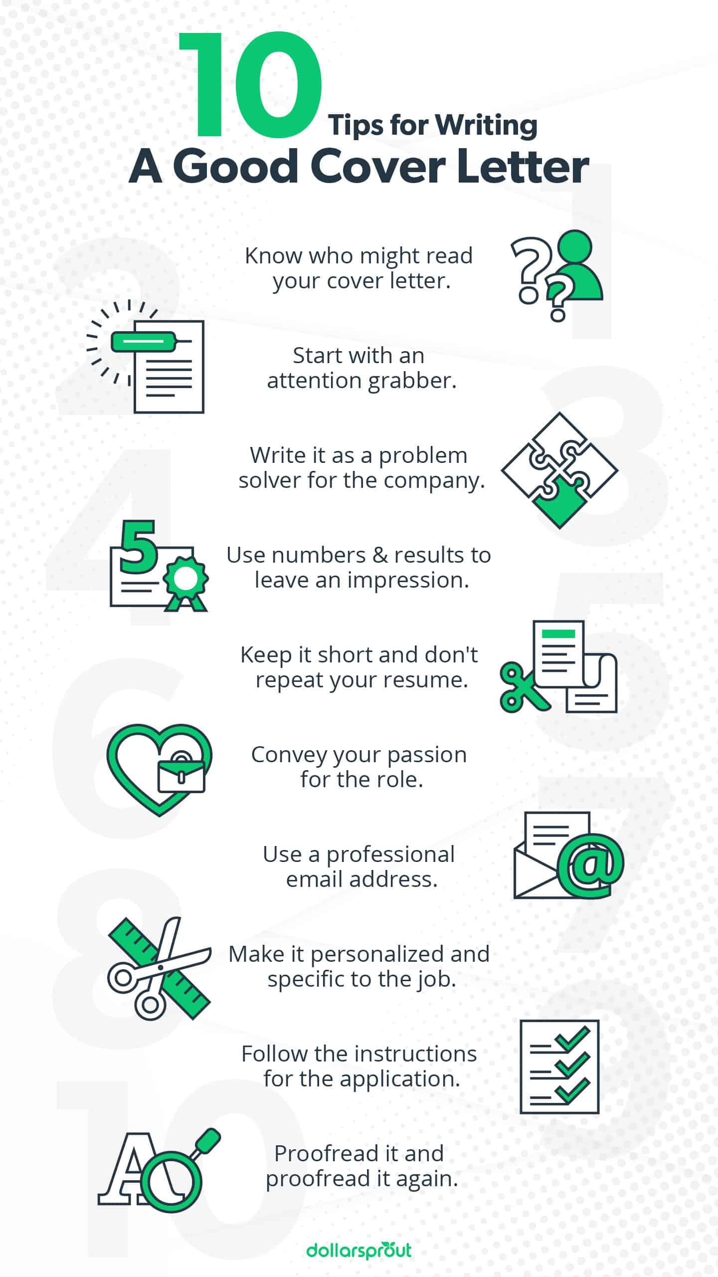 cover letter tips infographic