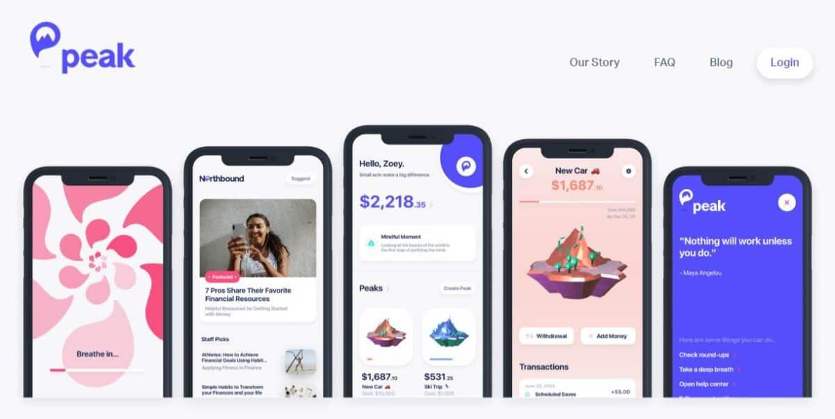 Peak app screenshot