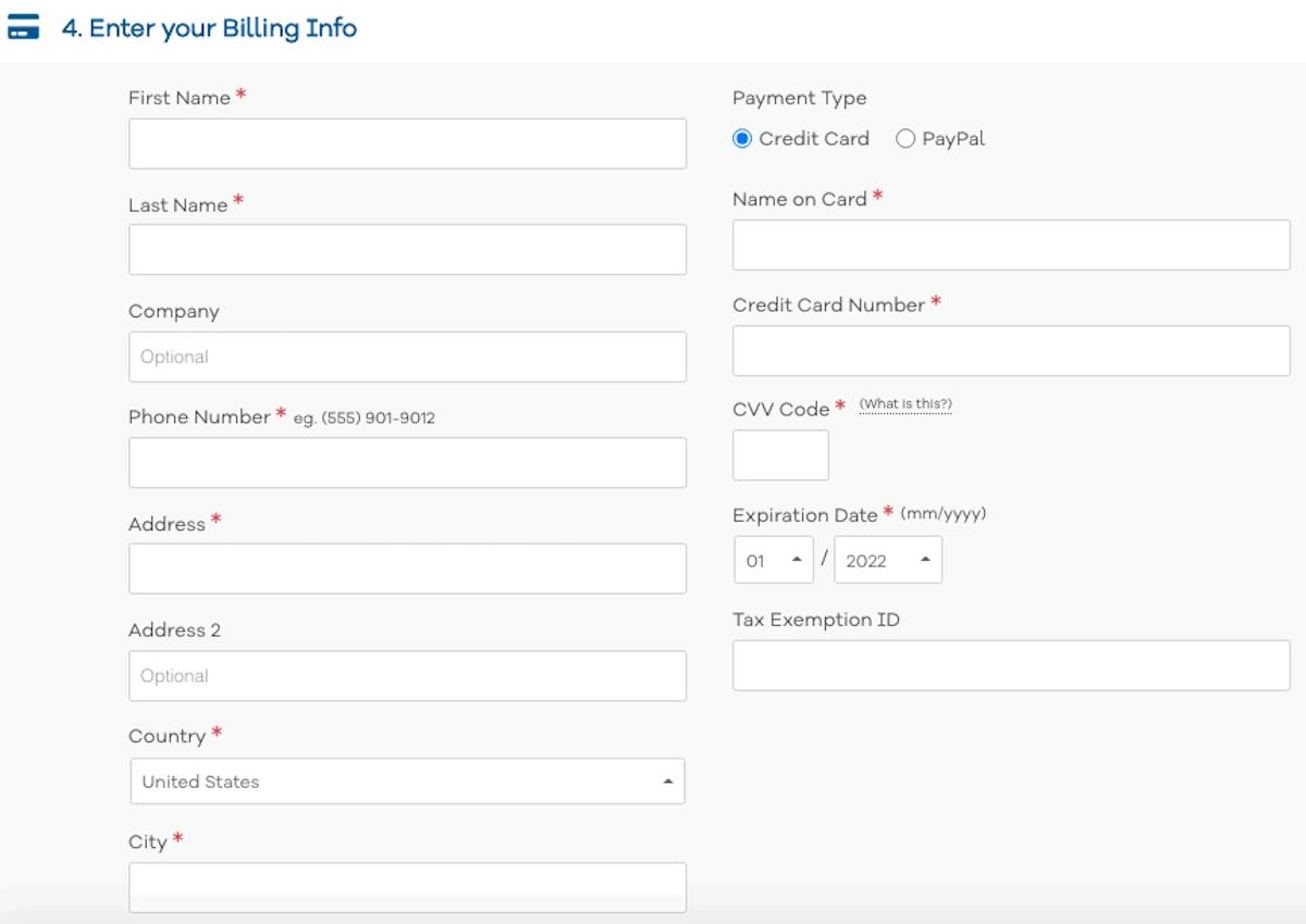 HostGator Billing Info