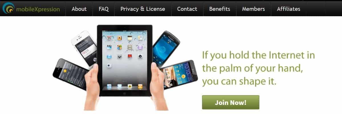 MobileXpression screenshot