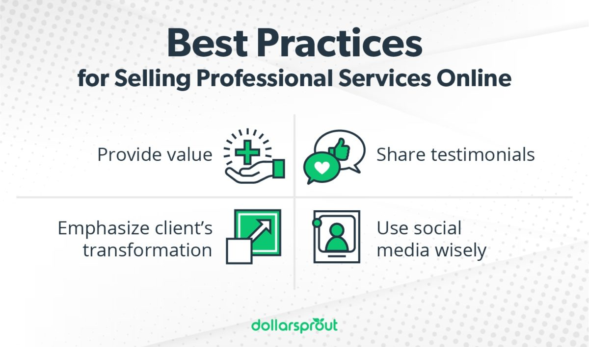 best practices for selling services online