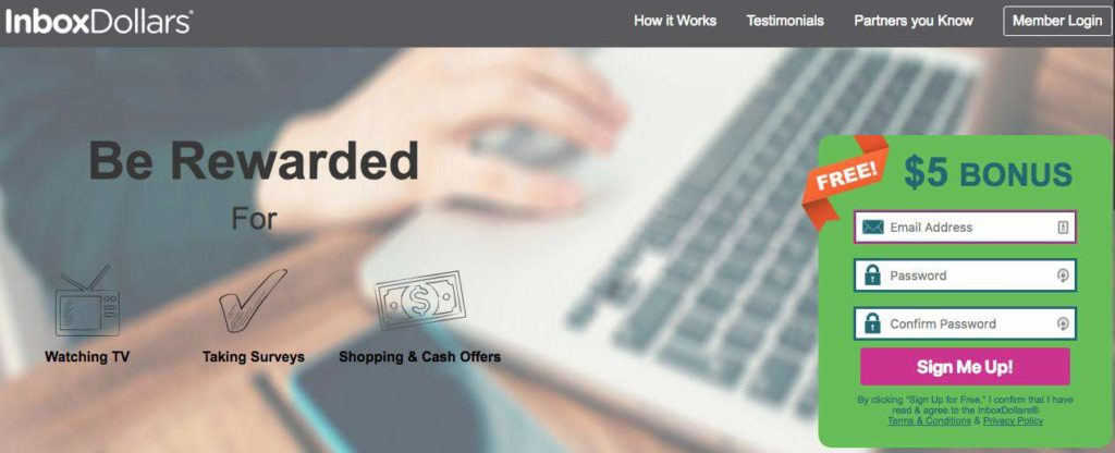 earn money by completing small tasks with inboxdollars