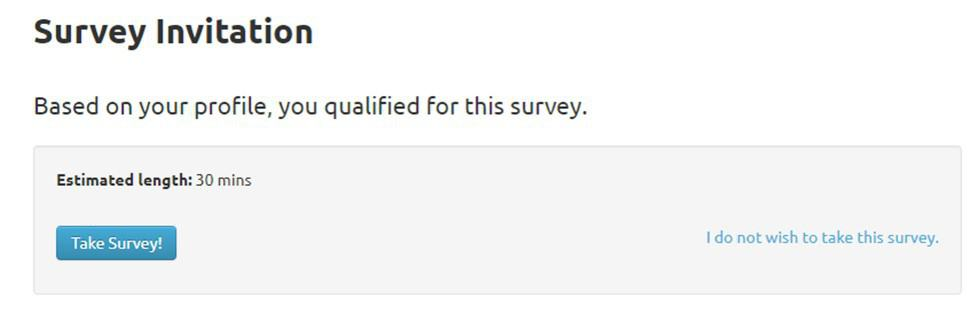 Survey Junkie Survey Invitation