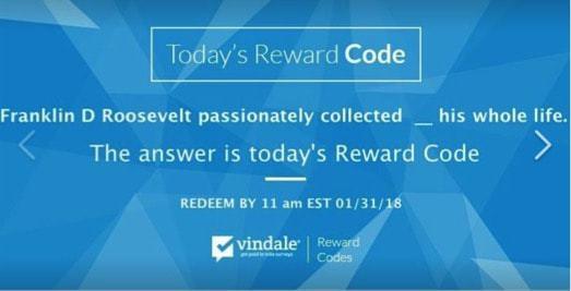 vindale research reward codes
